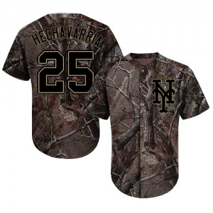 Authentic Men's Adeiny Hechavarria Camo Jersey - #25 Baseball New York Mets Flex Base Realtree Collection