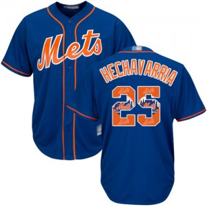 Authentic Men's Adeiny Hechavarria Royal Blue Jersey - #25 Baseball New York Mets Cool Base Team Logo Fashion