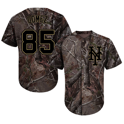 Authentic Men's Carlos Gomez Camo Jersey - #85 Baseball New York Mets Flex Base Realtree Collection