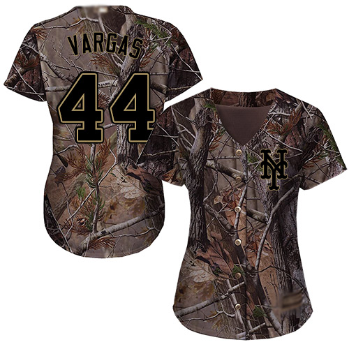 Authentic Women's Jason Vargas Camo Jersey - #44 Baseball New York Mets Flex Base Realtree Collection