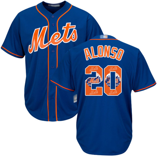 Authentic Men's Pete Alonso Royal Blue Jersey - #20 Baseball New York Mets Cool Base Team Logo Fashion