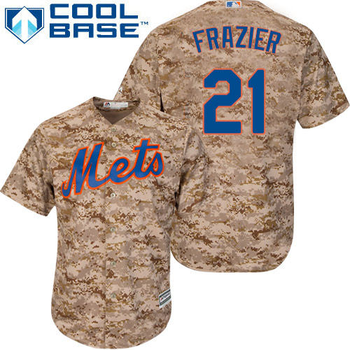 Authentic Men's Todd Frazier Camo Alternate Jersey - #21 Baseball New York Mets Cool Base