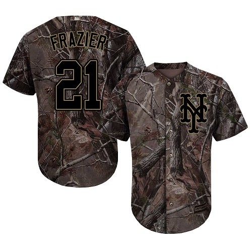 Authentic Men's Todd Frazier Camo Jersey - #21 Baseball New York Mets Flex Base Realtree Collection
