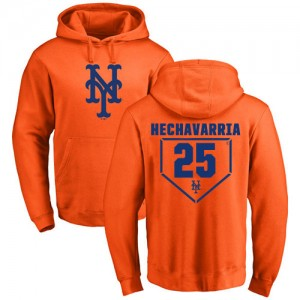 Adeiny Hechavarria Orange RBI - #25 Baseball New York Mets Pullover Hoodie