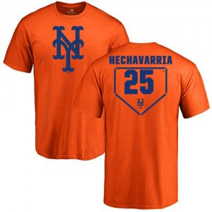 Adeiny Hechavarria Orange RBI - #25 Baseball New York Mets T-Shirt