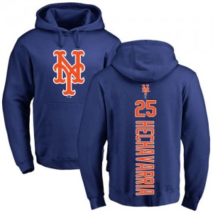 Adeiny Hechavarria Royal Blue Backer - #25 Baseball New York Mets Pullover Hoodie