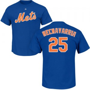 Adeiny Hechavarria Royal Blue Name & Number - #25 Baseball New York Mets T-Shirt