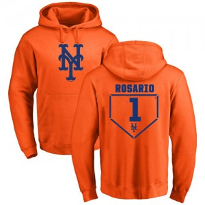 Amed Rosario Orange RBI - #1 Baseball New York Mets Pullover Hoodie