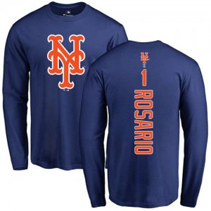 Amed Rosario Royal Blue Backer - #1 Baseball New York Mets Long Sleeve T-Shirt